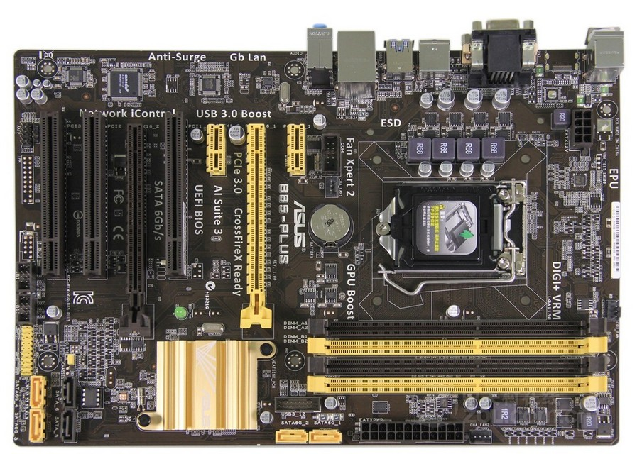 Used, for Asus B85-PLUS Desktop Motherboard B85 Socket LGA 1150 i7 i5 i3 DDR3 32G SATA3 USB3.0 ATX original used desktop motherboard for asus p5ql pro p43 support lga7756 ddr2 support 16g 6 sata ii usb2 0 atx