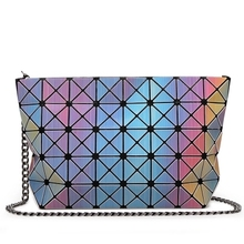 Hot Sale Laser BaoBao Bag Women Dazzle Color Plaid Tote Casual Bags Female Fashion Handbags Sequins Mirror Free shipping