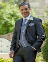 New Arrival Customized Charcoal Wedding Ceremony Mens Suit Groom Tuxedos bridegroom and Groomsman Suit Jacket+Pants+Tie+Vest