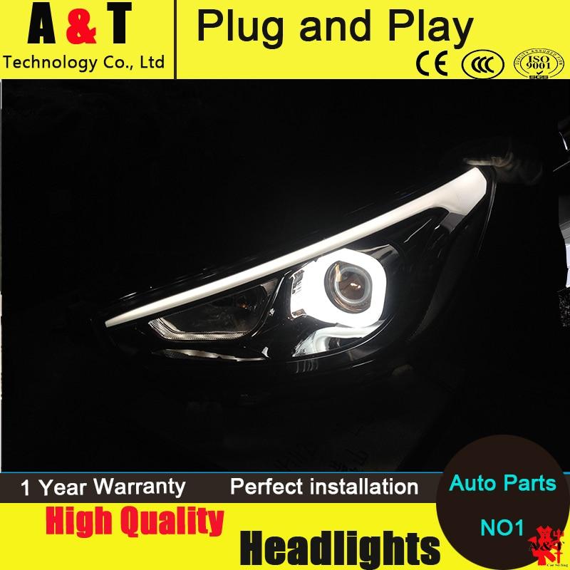 Car Styling For Hyundai Solaris headlights 2011-2013 Accent led headlight Verna turn signal drl H7 hid Bi-Xenon Lens low beam