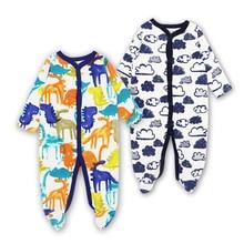 2pcs gesetztes Baby-Spielanzug-neugeborenes Baby-Kleidungs-Baumwolllangärmelige Babykleidung stellte Kinderoverall ein