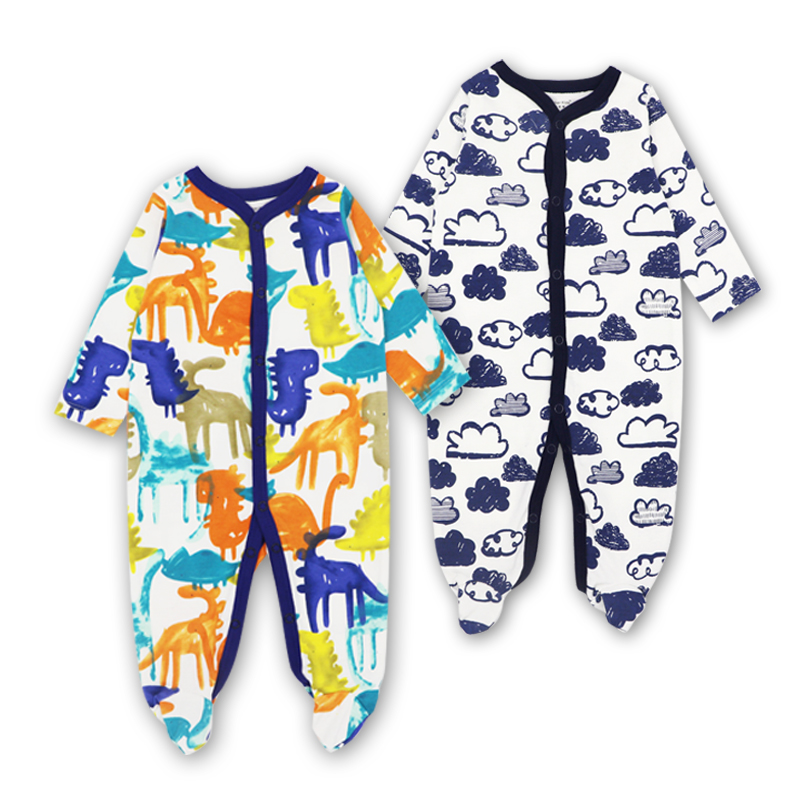 2pcs set Baby Rompers Newborn Baby Clothing Cotton Long Sleeved baby boy clothes Set Kid Jumpsuit