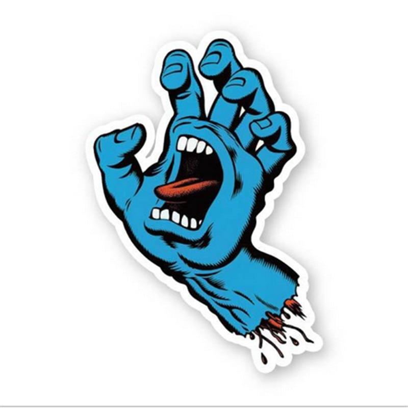 Hey Funny1pack Blau Hand Lustige Aufkleber Terror Cartoon
