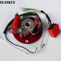 XUANKUN 110/125/140 Horizontal High Speed Off Road Motorcycle Engine Modification Magneto Rotor Spindle Assembly