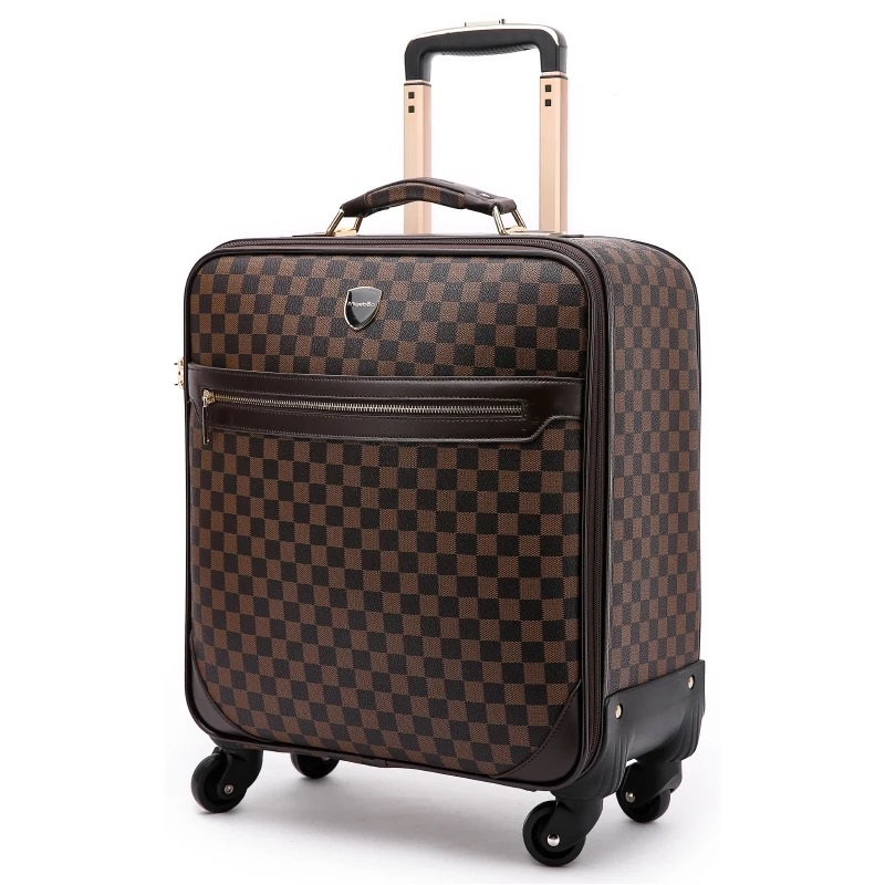 16/20/22/24 inch fashion travel suitcase,carry on trolley bag,fixed cabin large luggage bag girl vintage suitcase box man trunk,