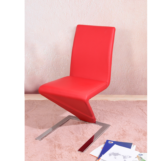 Mermaid Dining Chair Faux Leather Z Shape 2pcs Lot Room Red Black White