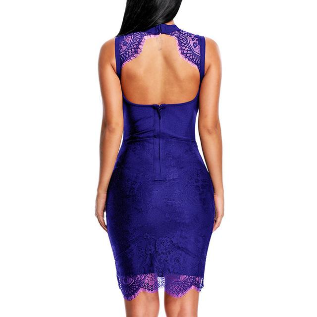 Sexy Lace Hollow Out Lady Bandage Dress
