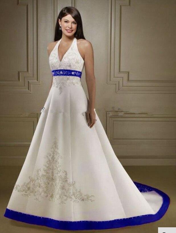 robe de mari e blanche et bleu roi. Black Bedroom Furniture Sets. Home Design Ideas