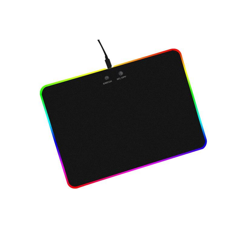 все цены на Hot Gaming Mouse Pad RGB Glow 9 Colorful Light Adjustable Mouse Mat For PC/Laptop/Desktop/Computer EM88