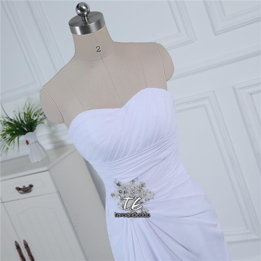 Strapless Cheap Chiffon Wedding Dress Under 100 White/Ivory Front ...