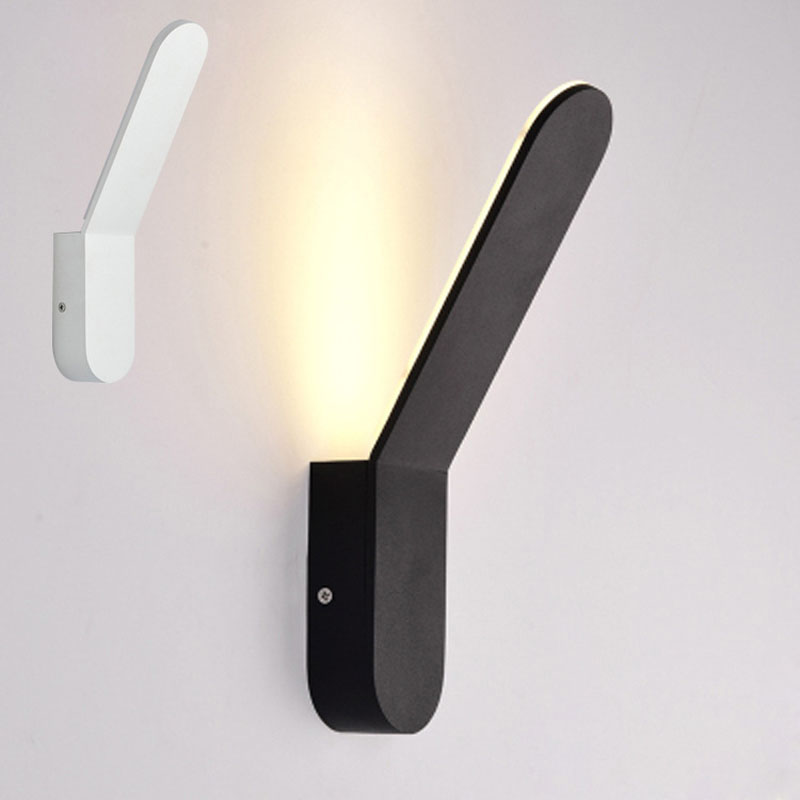 Modern hálószobás beltéri 6W-os fali lámpatestek, fali háttérvilágítású hálófali dekorációs tartókonzol-fényszóró hotel lámpatest-világítás AC220V