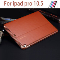 High Quality Genuine Leather Smart Cover For IPad Pro 10 5 2017 Case Luxury Leather Coque
