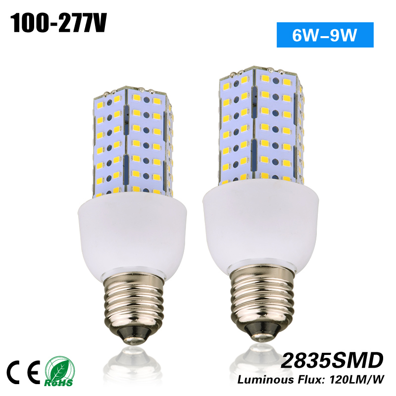 Free Shipping 6W 9W E27 G24Q G24D GU24 GX23 Led Corn Bulb Light for indoor light replacement