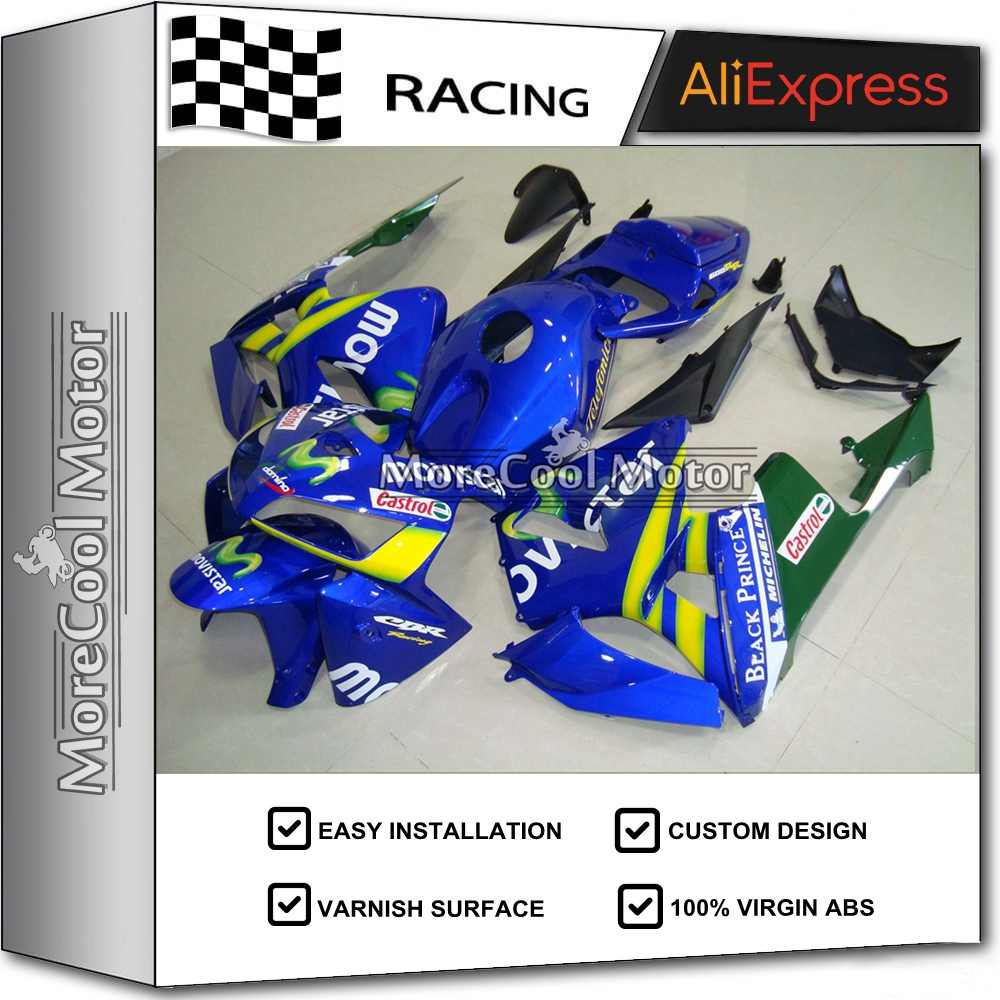 For Honda CBR 600RR 2005 CBR600RR 2006 CBR 600 RR Blue Movistar Injection ABS Plastic motorcycle Fairing Kit Bodywork candice guo plush toy stuffed doll funny cartoon creative spongebob patrick star novelty children story birthday gift christmas