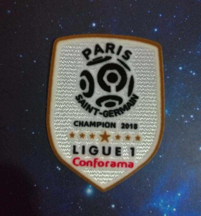 2018 2019 League 1 voetbal patch voor psg Kampioen Gouden patch de France de football Ligue 1 badge