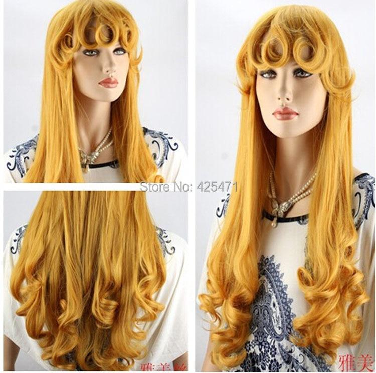 Adults Halloween Princess Sleeping Beauty Aurora Wig Long Spiral