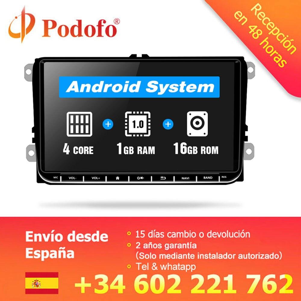 Podofo 9 Car radio Android GPS Navigation Multimedia Player Autoradio for Skoda Octavia golf 5 6
