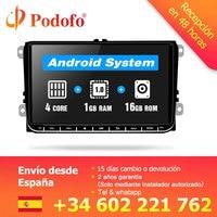 Podofo 9 автомобиль радио Android gps навигации мультимедийный плеер для VW Skoda Octavia Golf 5 6 touran passat B6 jetta Polo Tiguan