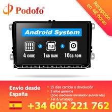 """Podofo 9 """"Car radio Android Lettore Multimediale di Navigazione GPS Autoradio per Skoda Octavia golf 5 6 touran passat B6 polo tiguan"""