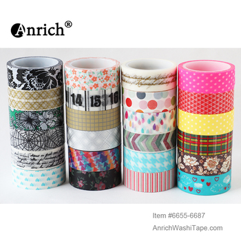 shipping free washi tape,Anrich washi tape #6150-6217,light gold,set of gold,watercolor style,hand-painted