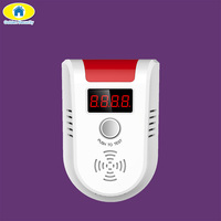 LPG Detector Wireless Digital LED Display Combustible Gas Detector For Home Alarm System