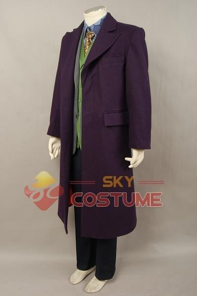 Batman The Dark Knight Joker Cosplay խրամատի բաճկոն + - Կարնավալային հագուստները - Լուսանկար 3