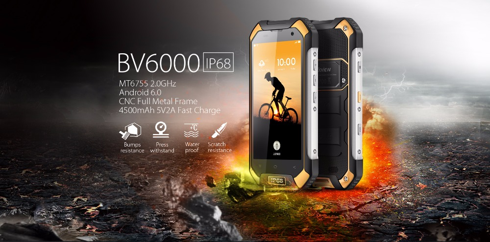 Quality Blackview BV6000 Waterproof Smartphone 4 7 Inch HD Screen MT6755 Octa Core Android 7 0