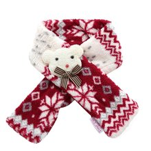Winter Warm Fuzzy Dog Scarf Christmas Soft Color Block Pet Puppy Holiday Neck Ac