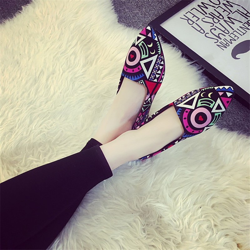 2016 Summer Fashion Hot Style Blue Patchwork shoe High Quality Casual Lazy shoe Women Flat shoe HSC14 (6)