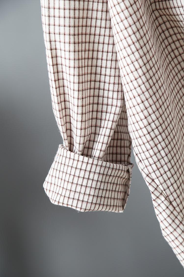 2019 Vintage Women Cotton Blouses Womens Tops And Blouses Boho Women Plaid Shirts Blusas Roupa Feminina Clothes Tops