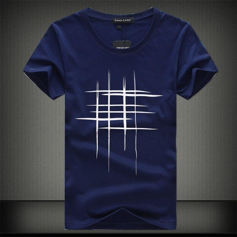 Swenearo 2018 simple creative design line cross for Single print t shirt