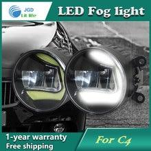Супер белый светодиод Габаритные огни чехол для Citroen C4 2004-2009 DRL светлая полоса Автостоянка Противотуманные фары 12 В DC Фара