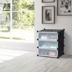 Giantex DIY 3 куб портативный Стеллаж для хранения обуви шкаф 6 пар компактный органайзер новая мебель для дома HW59325