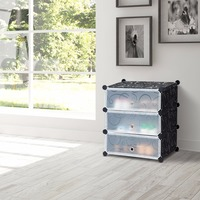 Giantex DIY 3 Cube Portable Shoe Rack Storage Cabinet 6 Pair Space Saving Organizer New Home Furniture HW59325