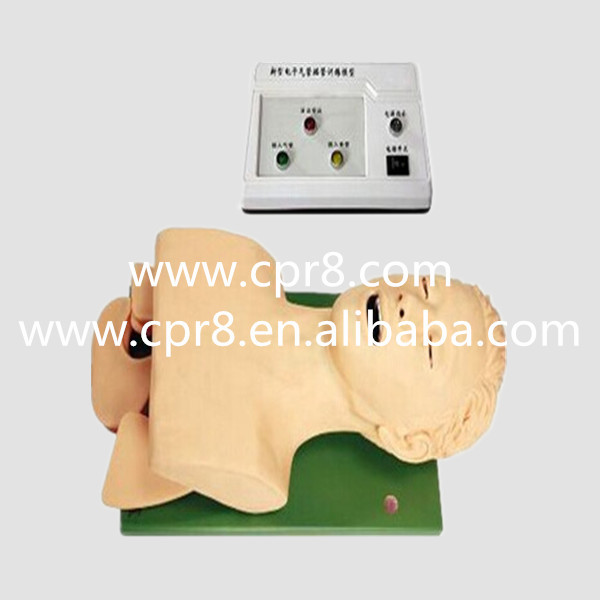 BIX-J5S Electronic Airway Lntubation Manikin (With Teeth Compression Alarm Device), Trachea Cannula Training Model WBW055 bix j51 trachea weasand intubation tube cannula training manikin with alarm device