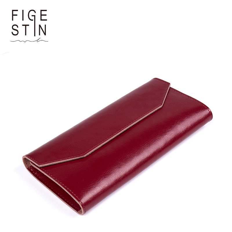 FIGESTIN Women Wallets And Purses Design Leather Long Hasp Female Ultra Thin Coin Purse Card Holder Clutch carteira feminina декор atlas concorde russia sinua damask white 20x50