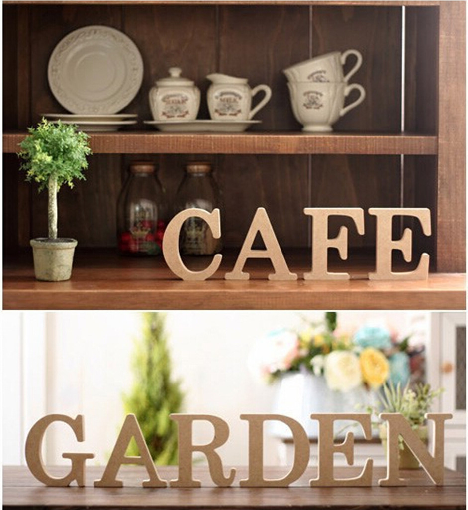 6pcs Thick Home Decor Decoration Wood Wooden Letters For Christmas Decorations Crafts