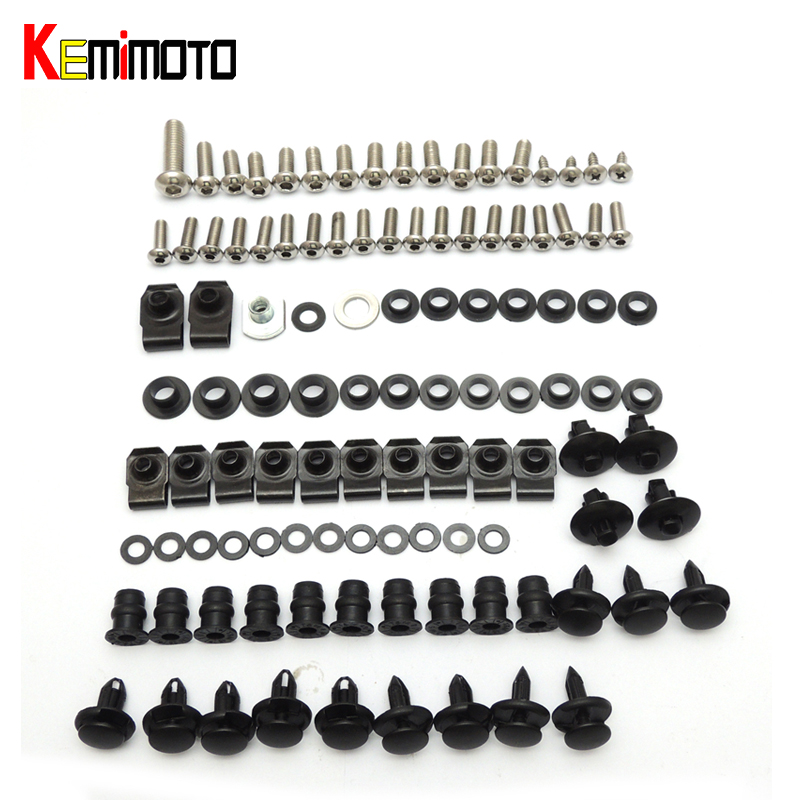 KEMiMOTO For Suzuki Motorcycle Fairing Bolt Screw Nuts Washers Fastener Fixation for SUZUKI GSX-R 600 750 2006 2007 Full Kit