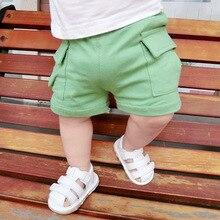 Специальная цена, От 0 до 2 лет, летние шорты для маленьких мальчиков и девочек, повседневные шорты для малышей, тренировочные шорты, штаны, хлопковые шорты с большим карманом
