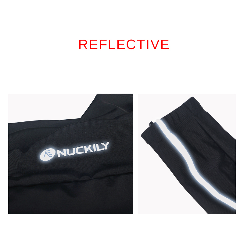 NUCKILY Bicycle Tights Gel Pad Men Cycling Pants Long Autumn Reflective Sport Wear Bike Clothing MM007 in Cycling Tights from Sports Entertainment