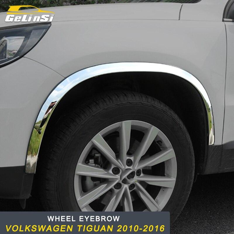 GELINSI voiture roue sourcil cadre couverture garniture Sitcker pour Volkswagen Tiguan 2010-2016