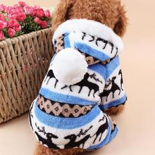 Deer Pattern Coral Fleece Coat