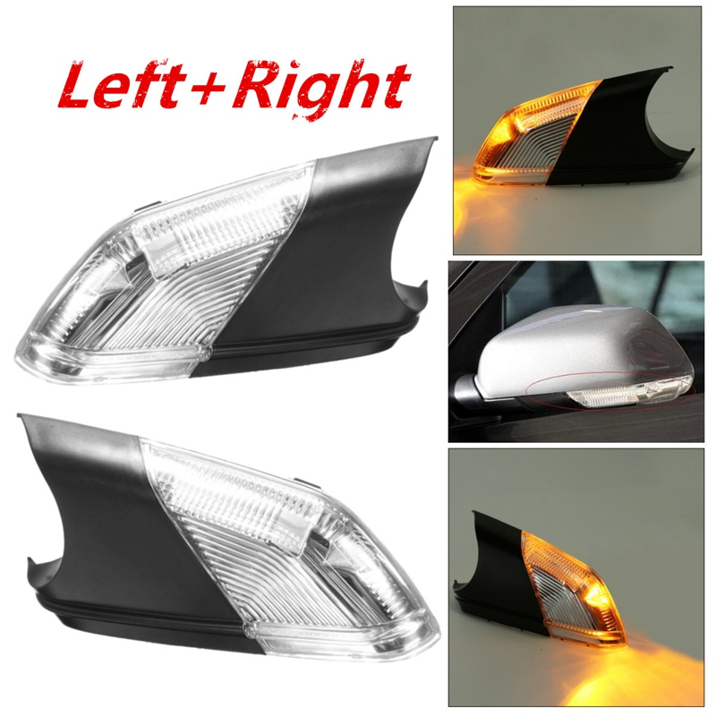 Left+Right Side Wing Car Styling Rearview Mirror Turn Signal Light Indicator Led Lamps Bar Lighting For 05-09 for VW Polo mk4 FL