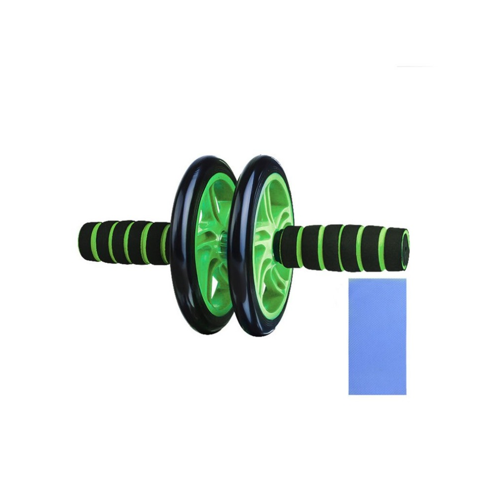 Abdominal Fitness Wheels Double Wheels Abdominal Waist Workout Exercise Gym Roller Core Trainer Fitness Equipment Free Shipping