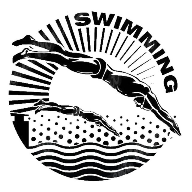 New arrival Swim Sticker Logo Name Swimmer Decal Swimming