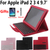 Removable Detach Wireless Bluetooth Keyboard Tablet Case Cover For Apple IPad 2 3 4 IPad2 IPad3