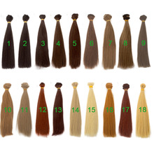 20PCS/LOT Doll Tress DIY BJD Hair Straight Synthetic For Dolls 20CM