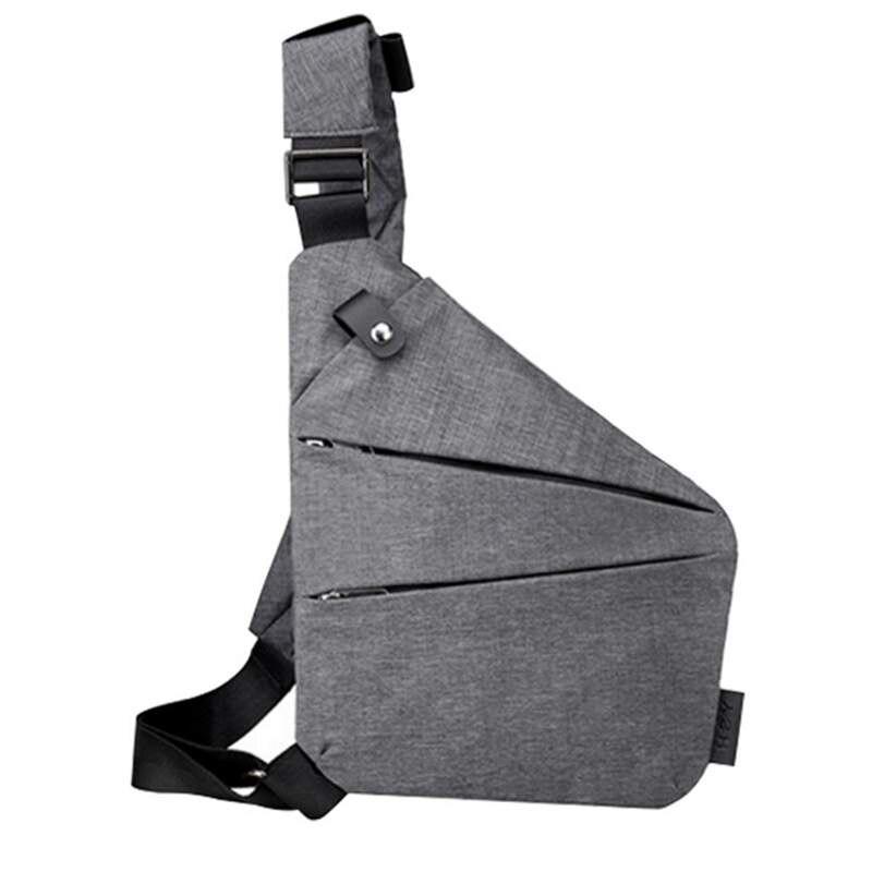 Anti-Theft Messenger Bag Shoulder Bags Hidden Chest Pack Mens Retro Crossbody Bag Cool Motorcycle Sling Bag