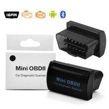 MINI ELM327 versión V2.1, Bluetooth, OBD, OBD2, OBDII, ELM 327, para Android, PC de torsión, con caja de venta al por menor, Bluetooth 2,0