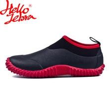 Hellozebra Для мужчин дождь Сапоги и ботинки для девочек отдыха скота цветущие воды обувь низкие полусапожки Автомойка Водонепроницаемый открытый новинка 2017 года Дизайн